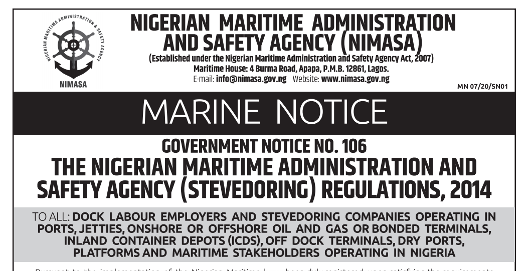 Stevedoring Regulations 2014