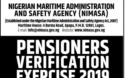 PENSIONERS VERIFICATION EXERCISE 2019