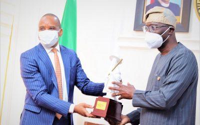 DG NIMASA Dr. Bashir Jamoh, during a courtesy visit to the Lagos State Governor Jide Sanwoolu at Government House, Alausa-Ikeja Lagos.